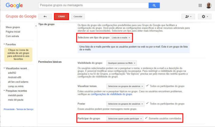 Grupos do Google / como ser mais produtivo