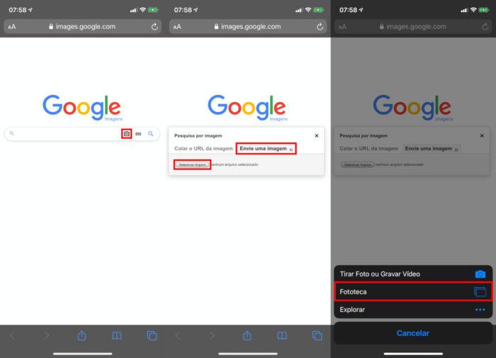 Google Images / Safari / Como pesquisar imagem no Google pelo celular