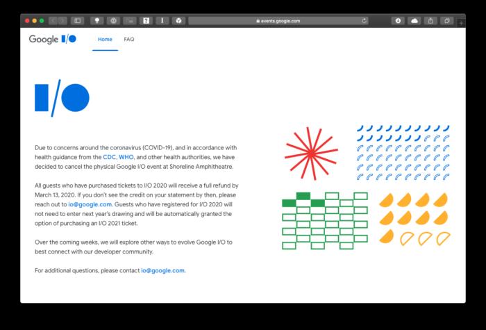 Google I/O 2020 é cancelado