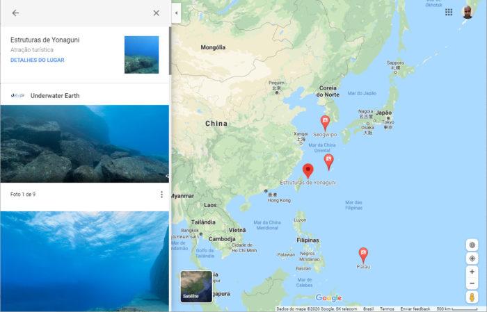 Google Maps / modo subaquático google