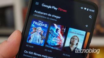 Google Play Filmes pode adicionar filmes grátis com anúncios