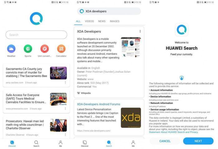 Huawei Search (Reprodução/XDA Developers)