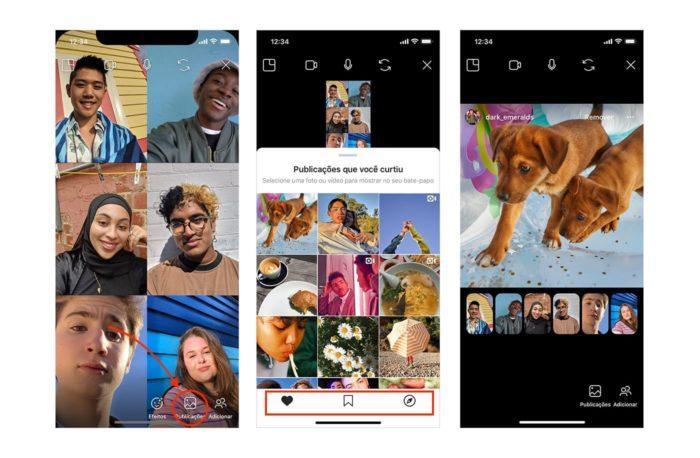 como usar o co-watching para compartilhamento de mídia por chamada de vídeo no Instagram