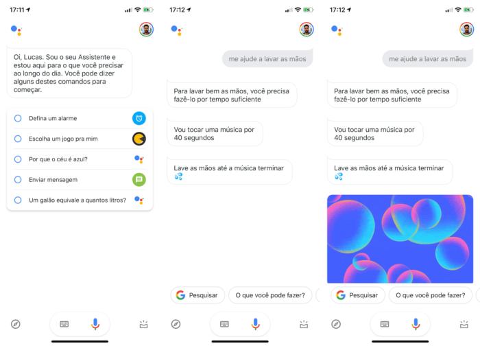 como lavar as mãos com ajuda do google assistente