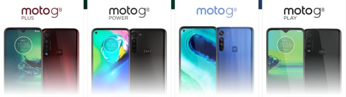 Moto G8, Plus, Power e Play