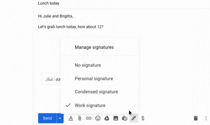 multiplas assinaturas no gmail
