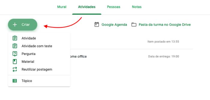 atividades google classroom