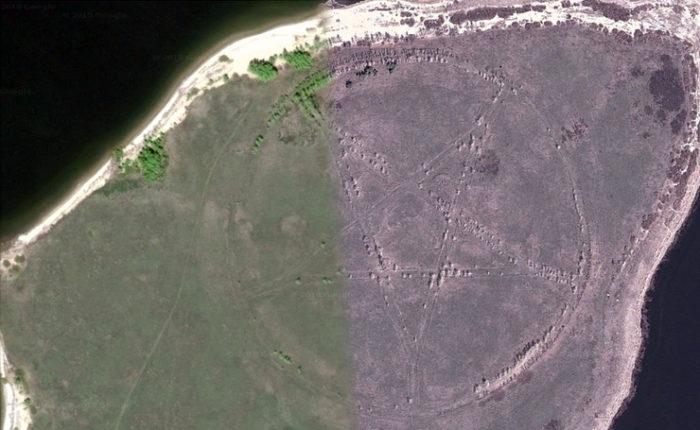 pentagrama google earth
