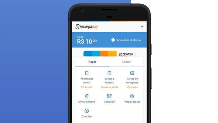 Aplicativo do RecargaPay (Imagem: Divulgação/RecargaPay)
