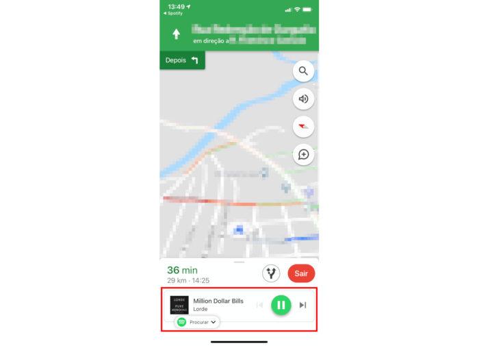 iPhone / spotify google maps