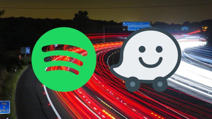 Logos Spotify e Waze