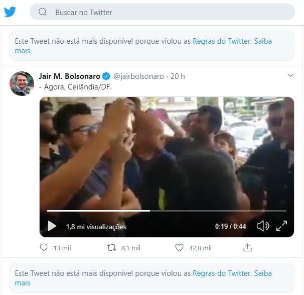 Jair Bolsonaro no Twitter