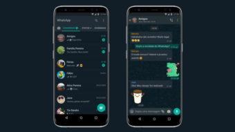 WhatsApp libera modo escuro para todos no Android e iPhone