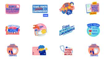 WhatsApp e Ministério da Saúde lançam stickers sobre coronavírus