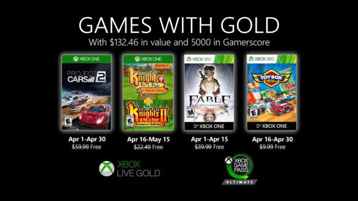 jogos xbox live gold de abril de 2020