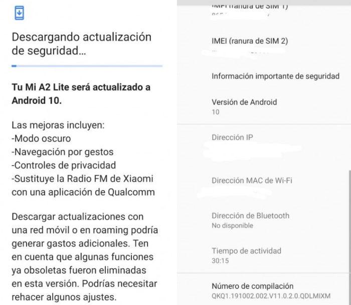Xiaomi Mi A2 Lite com Android 10