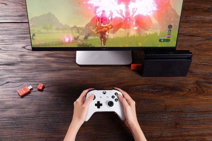 controle do Xbox conectado ao Nintendo Switch