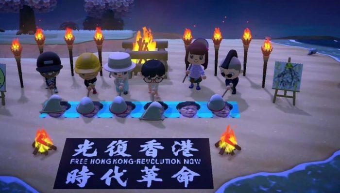 Protestos pró-hong kong estão sendo feitos dentro de Animal Crossing