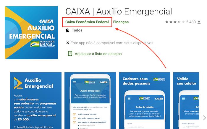 APP CAIXA | Auxilio Emergencial