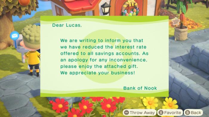 corte de juros do Banco do Nook