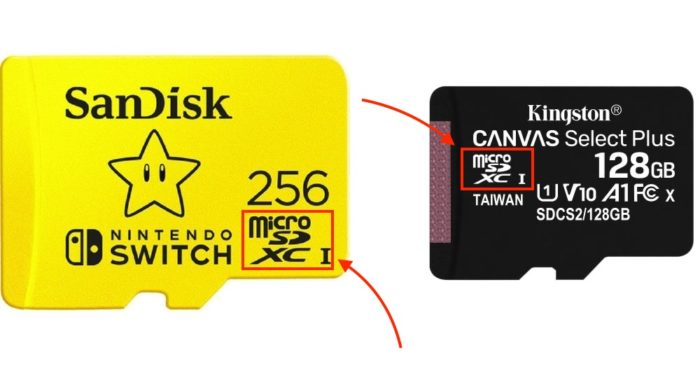 cartão de memória para o nintendo switch
