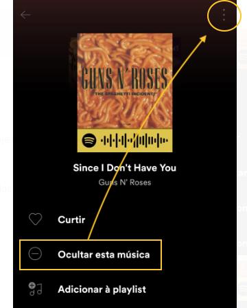 Como ocultar músicas no Spotify