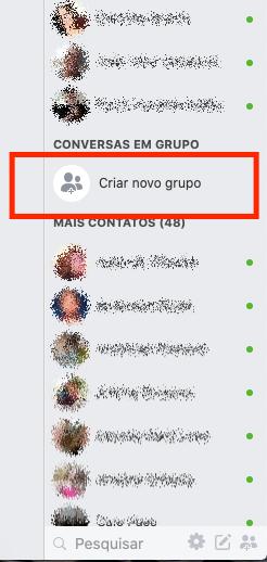 criar grupo para chamada de video no facebook messenger