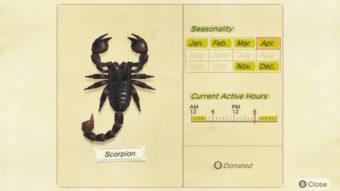 Como pegar escorpiões e tarântulas em Animal Crossing: New Horizons