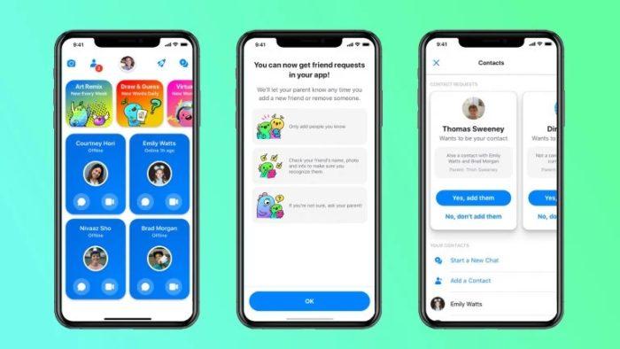 Facebook Messenger Kids - controle de amizades
