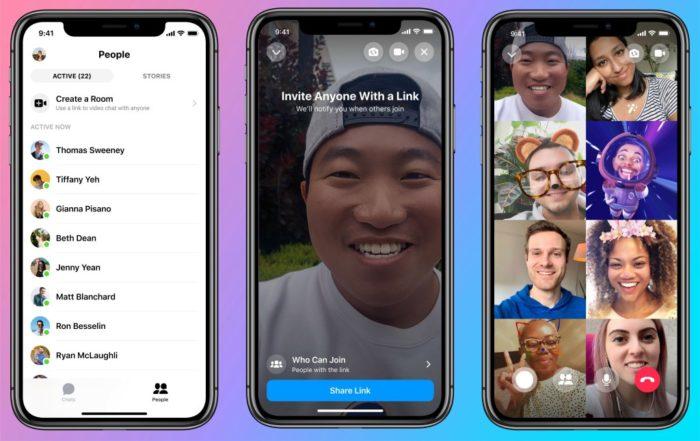 facebook messenger rooms smartphone