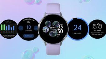 Samsung Galaxy Watch ganha app para lembrar de lavar as mãos