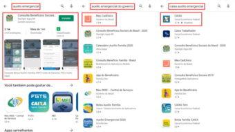 Google Play sugere app errado de auxílio emergencial da Caixa
