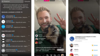 Instagram permite levantar doações durante as lives
