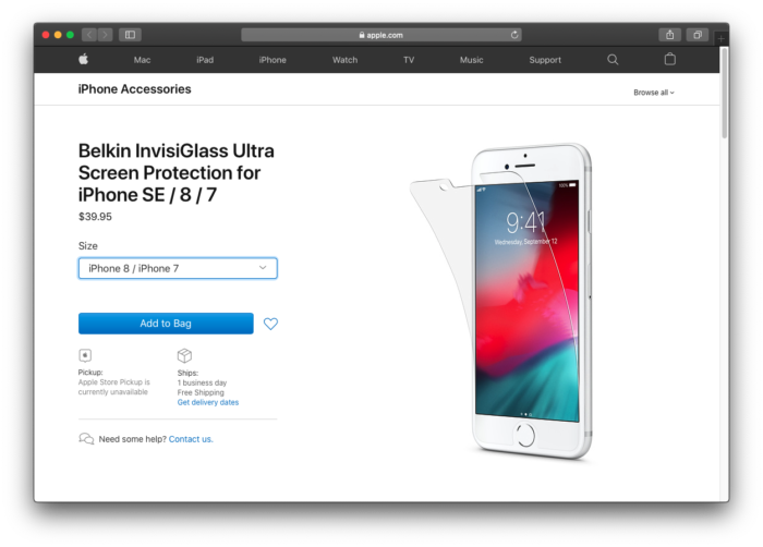 Película à venda na Apple Store revela nome de próximo iPhone SE