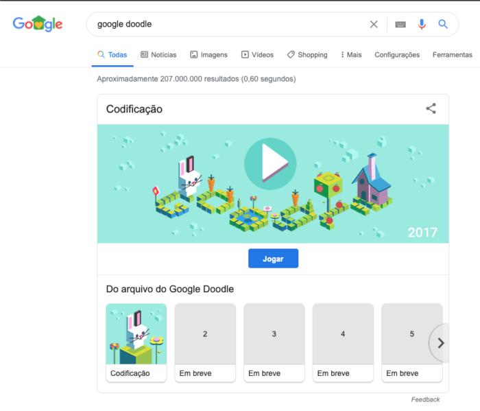 Jogos Conhecidos do Google Doodle - 10 dias