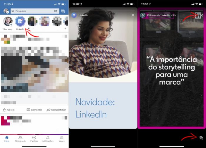 Saiba como visualizar conteúdos de outras pessoas no LinkedIn Stories