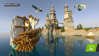 Minecraft RTX com ray tracing chegará para Windows em beta