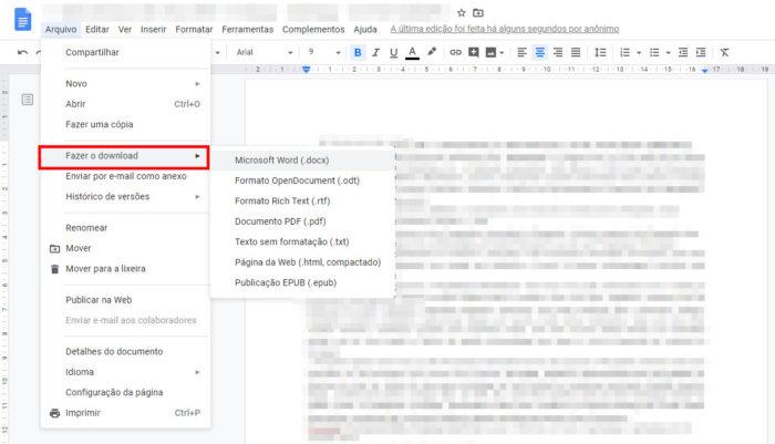 Google Docs / editar pdf no google docs