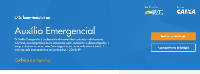 Site da CAIXA | Auxilio Emergencial
