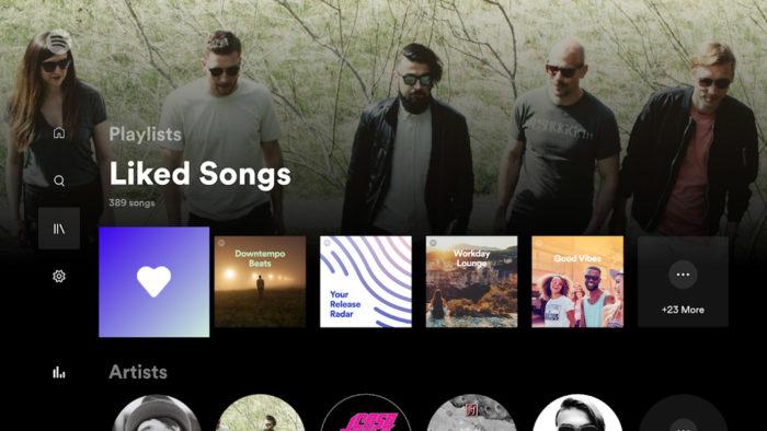 Novo visual do Spotify na Android TV e no Fire TV