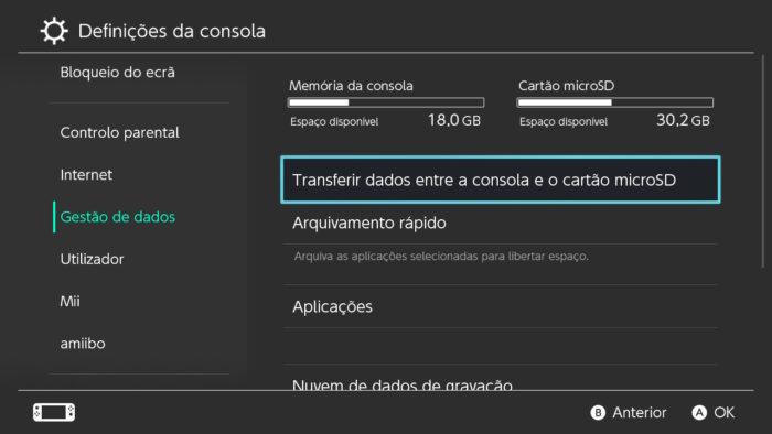 transferencia microsd para switch