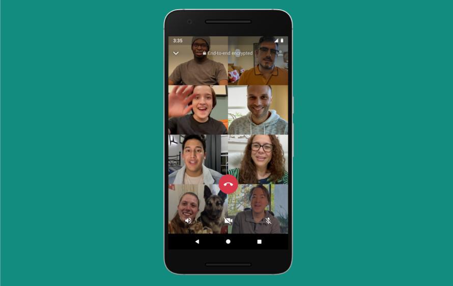 WhatsApp irá liberar vídeo chamada com até 50 pessoas