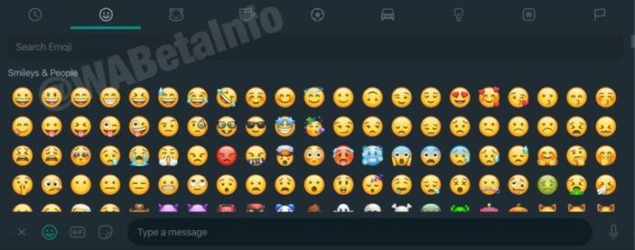 Tema escuro para o WhatsApp web - emojis