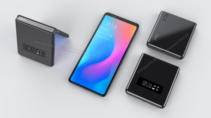 Xiaomi planeja celular dobrável em formato flip (Foto: Reprodução/Waqar Khan/WindowsUnited)