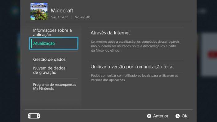 como atualizar minecraft / Felipe Vinha / Screenshot