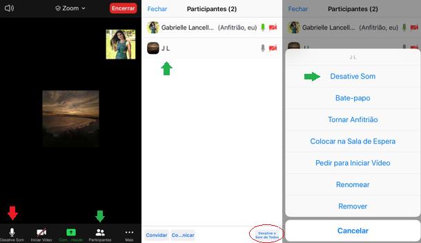 Como bloquear áudio de usuário do zoom/Reprodução/Gabrielle Lancellotti