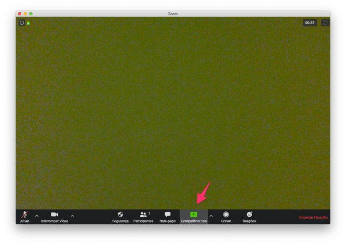 Compartilhe a tela no Zoom pelo computador