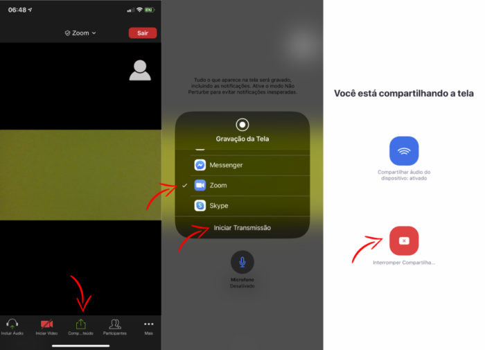 Saiba como compartilhar a tela no Zoom pelo iPhone