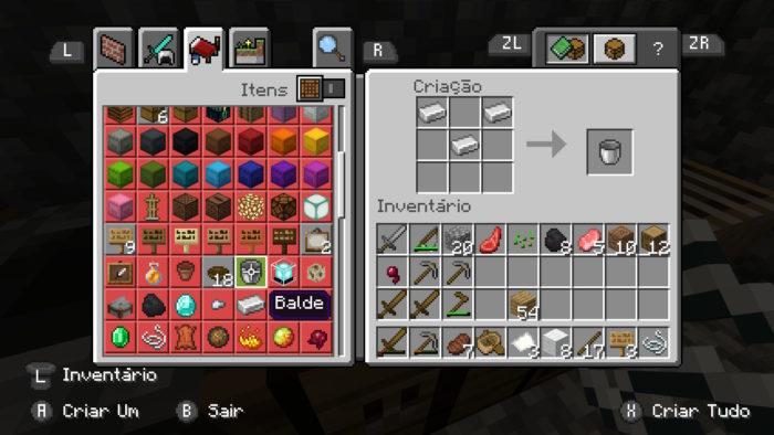 Como fazer um balde no Minecraft / Felipe Vinha / Reprodução