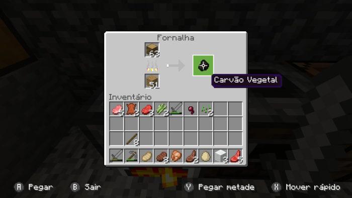 Como fazer carvão vegetal no Minecraft /Felipe Vinha / Reprodução